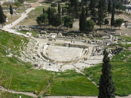 Theatre of Dionysus at Athens, where Medea was staged many times photo: Flickr by Tilemahos Efthimiadis CC BY 2.0
