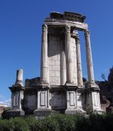 The remains of the Aedes Vestae in the Roman Forum (wikimedia)