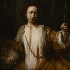"Rembrandt, ""Lucretia"", 1666. Minneapolis Institute of Art. Image: Wikimedia."