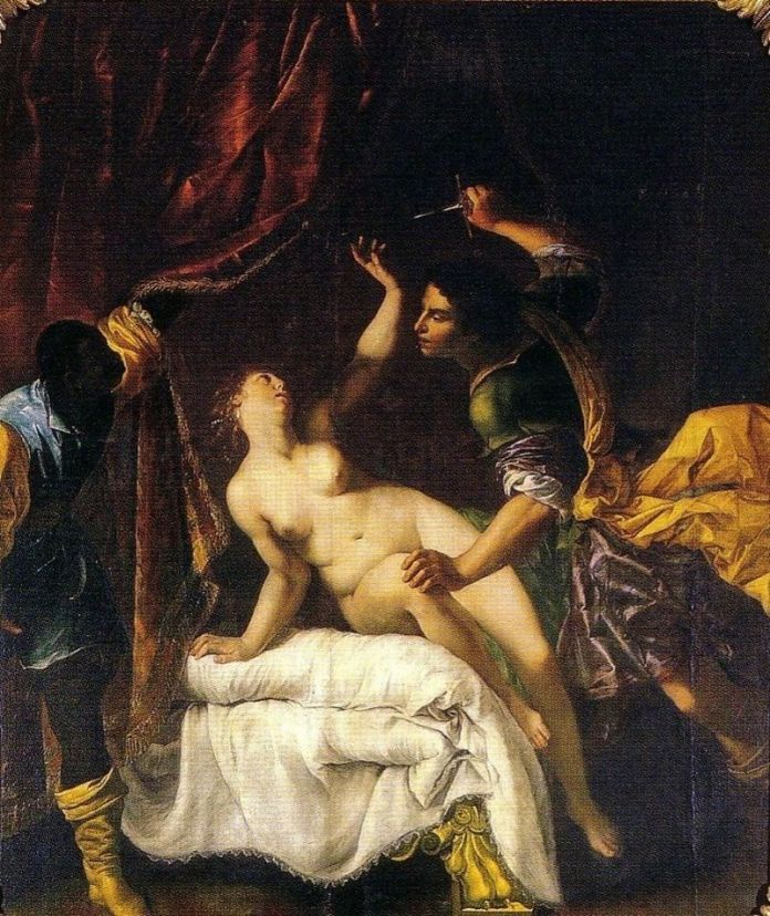 "Artemisia Gentileschi, ""The Rape of Lucretia"", 1645-1650, Neues Palais, Potsdam"