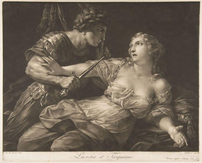 "Johann Peter Pichler, ""Tarquin and Lucretia"", 1792. Met Museum"