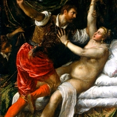 "Titian, ""Tarquin and Lucretia"", 1571. Fitzwilliam Museum. Image: Wikimedia."