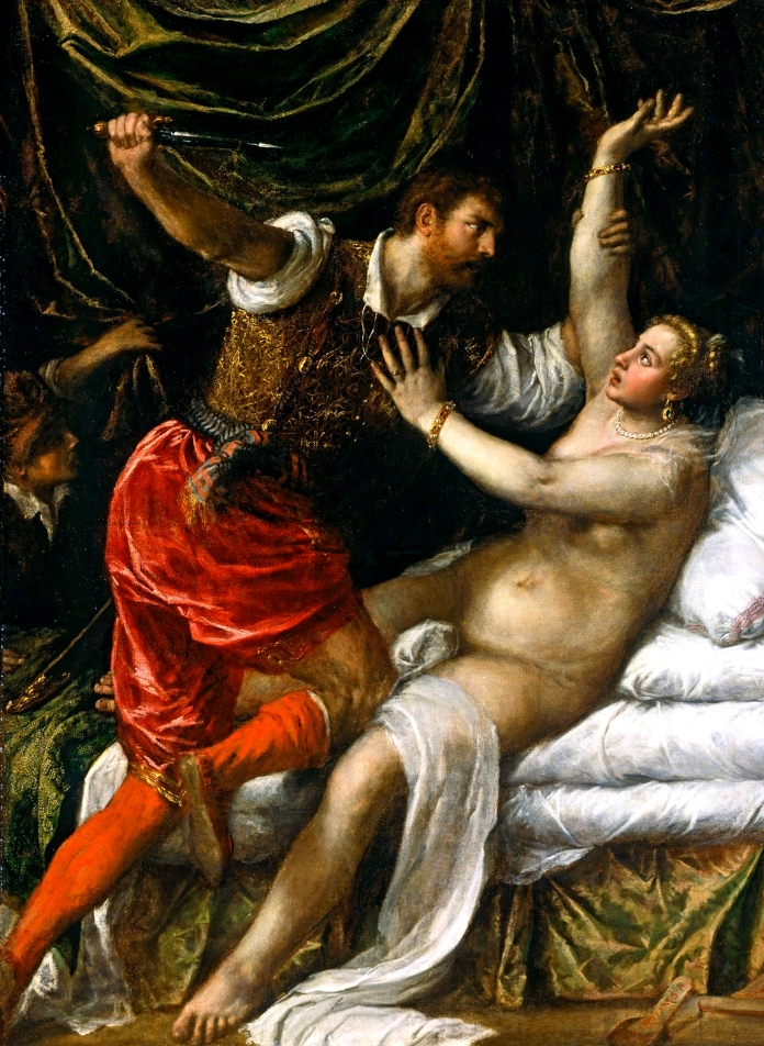 "Titian, ""Tarquin and Lucretia"", 1571. Fitzwilliam Museum."